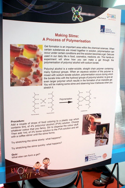 Poster on Making Slime - it's all about polymerization