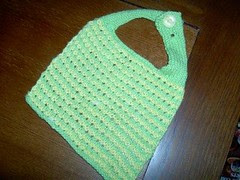 Lime Green and Yellow Bib