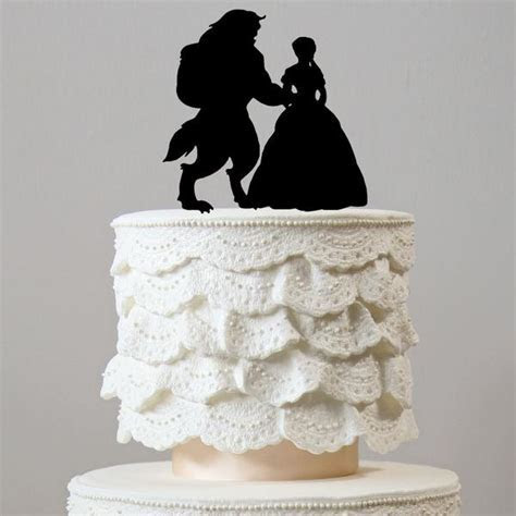 Beauty And The Beast Wedding Cake Toppers (Fairytale