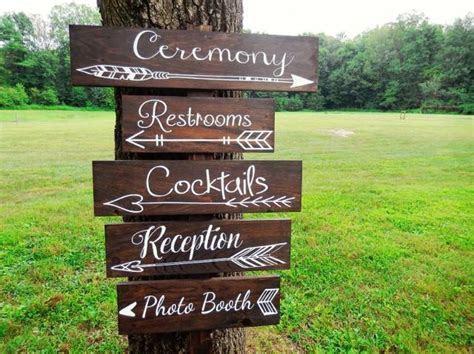 One Wedding Directional Sign  Wedding Arrow Sign  Rustic