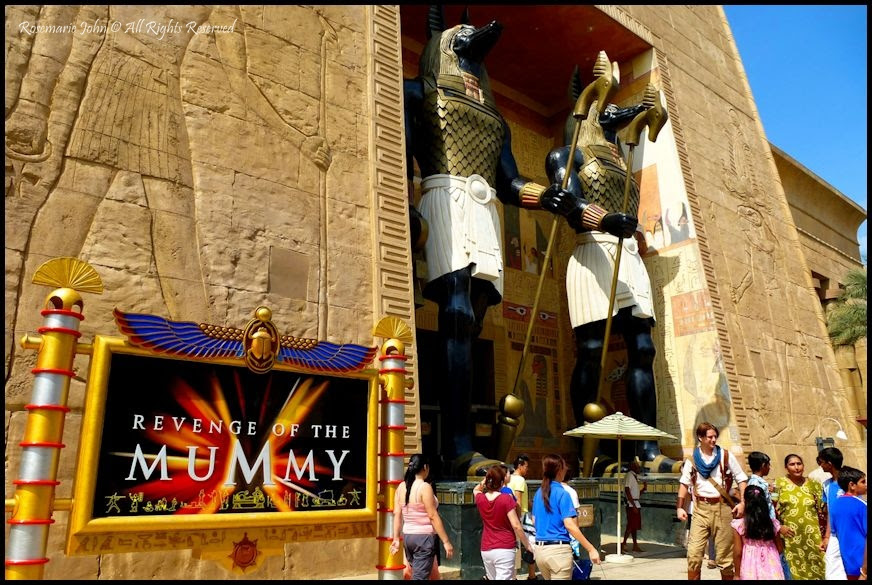 Fight the Mummy Curse in Universal Studios Singapore Mummy Ride