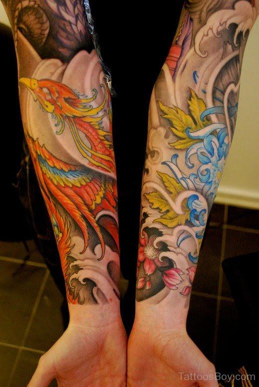 Graceful Phoenix Tattoo On Wrist Tattoo Designs Tattoo Pictures