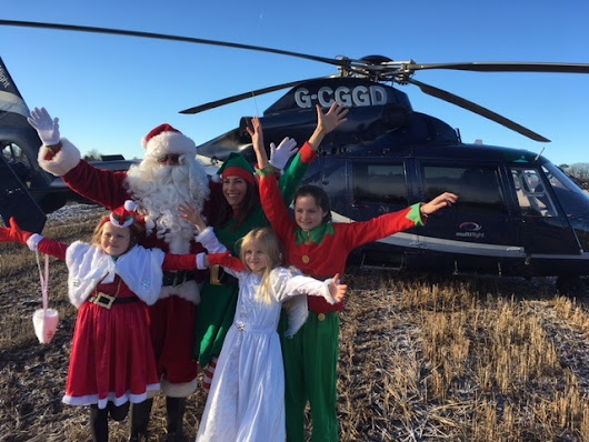 Magical day as Multiflight helicopter flies in Santa for children's hospice Christmas surprise