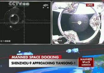 Shenzhou-9's rendezvous