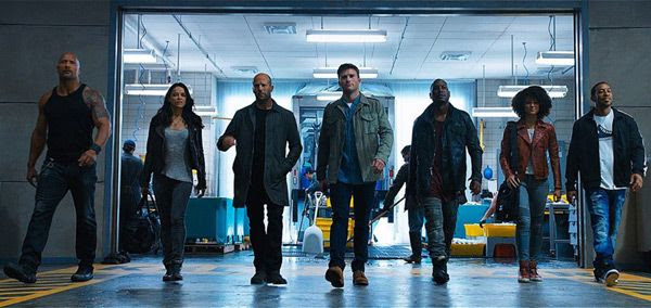 Dwayne Johnson, Michelle Rodriguez, Jason Statham, Scott Eastwood, Tyrese Gibson, Nathalie Emmanuel and Chris 'Ludacris' Bridges star in THE FATE OF THE FURIOUS.