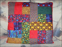 Pillow cover for The Wright Stuff quilt
