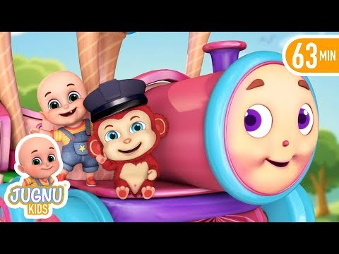 Chuk Chuk Rail | Hindi Poems | hindi baby songs for Children from Jugnu Kids