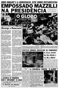 press- o globo - 2 de abril de 1964