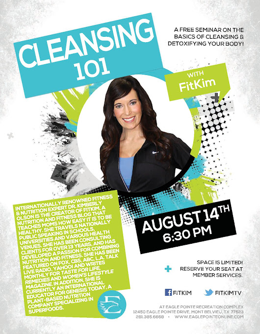 Cleansing 101 Lecture at Eagle Pointe Recreation Complex | FitKim