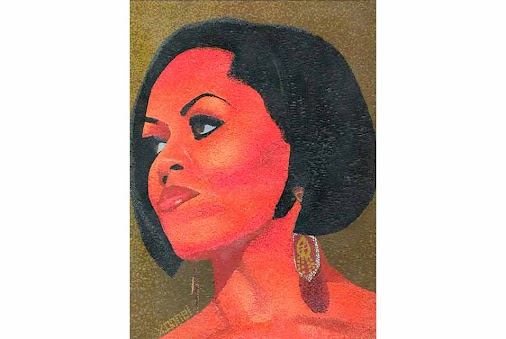 Dramatic mosaic portrait of Michelle Obama is on view in Harlem  http://flip.it/ncgDhr