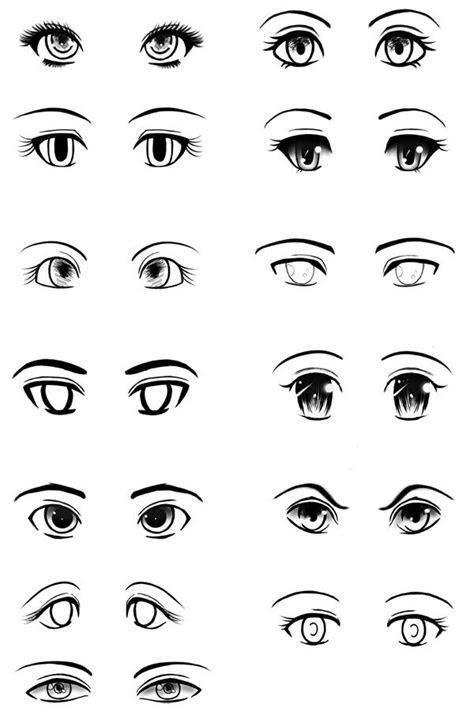 manga  anime eyes  types  style  manga
