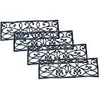 AmeriHome Rubber Scroll Work Stair Tread 4 Pack Black Each Measures: 30 L x 9 D x .5 H