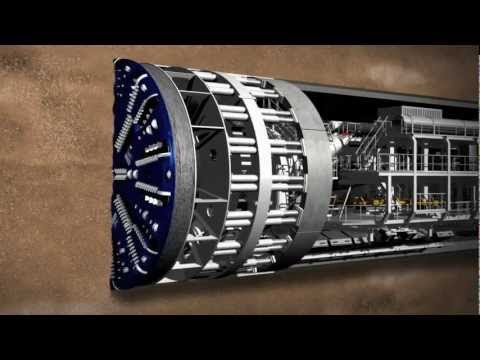 Giant Tunnel Digging Machine – Engineering Masterpiece!