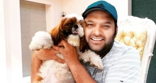 Kapil Sharma is all smiles as he poses with his pet Cheeku, is a delight to watch