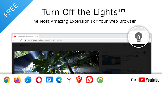 Turn Off the Lights | For Browser, Desktop and Tablet