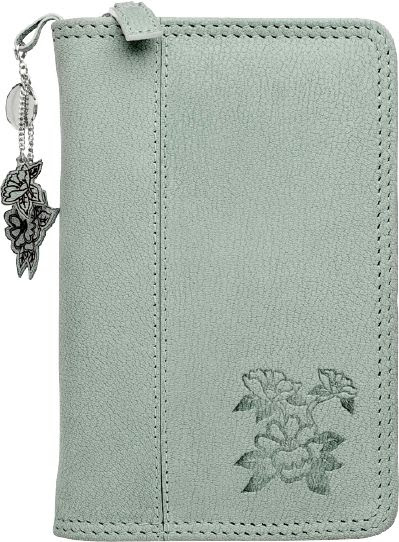 """Day-Timer Garden Path Zippered 1"""" Leather Planner Cover Portable ..."""