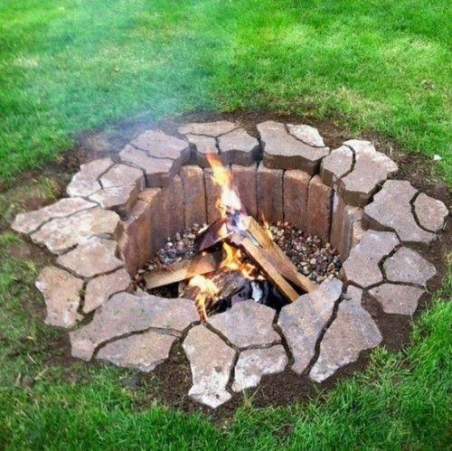 18 Cool DIY Outdoor Fire Pits and Bowls | Secret garden | Pinterest