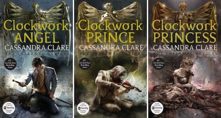 covers of The Infernal Devices books