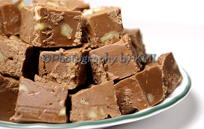 a plate of homemade chocolate fudge