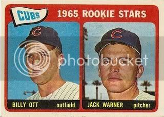 #354 Cubs Rookie Stars: Billy Ott and Jack Warner