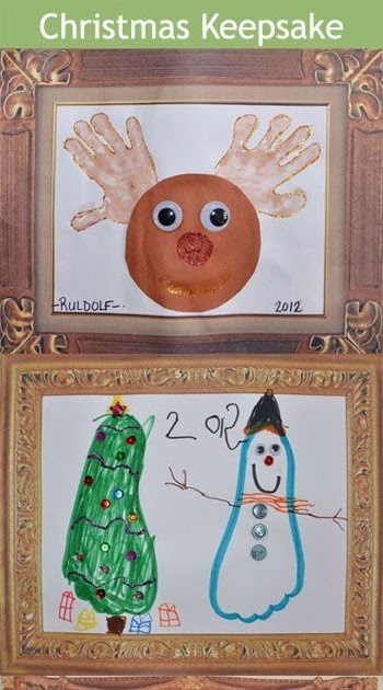 Christmas Decor Styles: Handprint & Footprint Christmas Crafts for ...