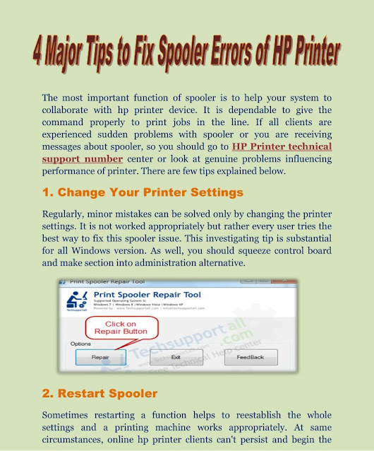 4 tips to fix spooler errors of hp printer