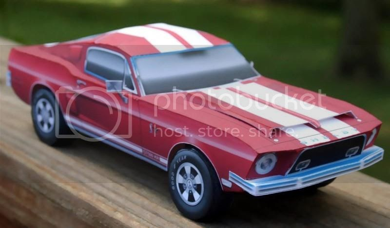 Papermau 1968 S Mustang Shelby Gt500 Kr Paper Model By Paper Cruiser