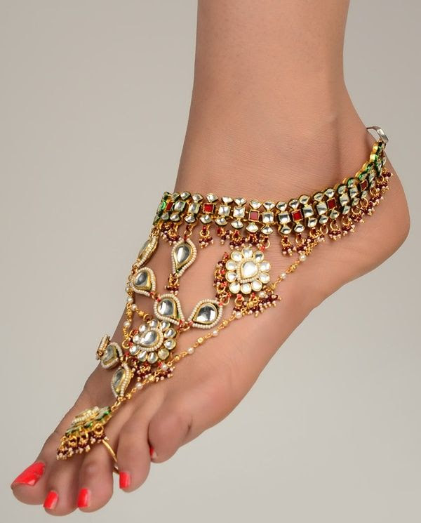 Bling foot jewelry