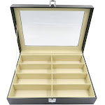 Evelots Glasses/Sunglasses Organizer/Display Case-PU Leather-NO Scratch-8 Slots