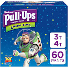 Pull Ups Night Time Training Pants, 3T-4T (32-40 Lb), Pixar Cars - 60 each