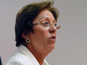 Rosalba Ciarlini se emocionou ao responder críticas do presidente do Sindicato dos Médicos do RN, Geraldo Ferreira (Foto: Ricardo Araújo/G1)