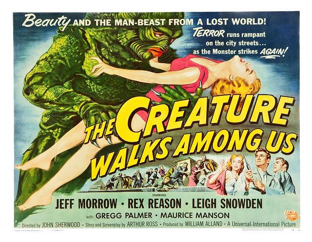 Reynold Brown - The Creature Walks Among Us (Universal International, 1956) half sheet