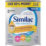 Similac Pro-Advance Infant Formula Milk-Based Powder with Iron - 30.8 oz canister