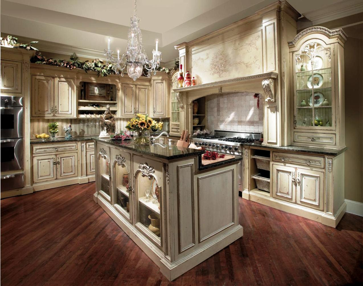 French Country Kitchen Cabinets Design Ideas ...