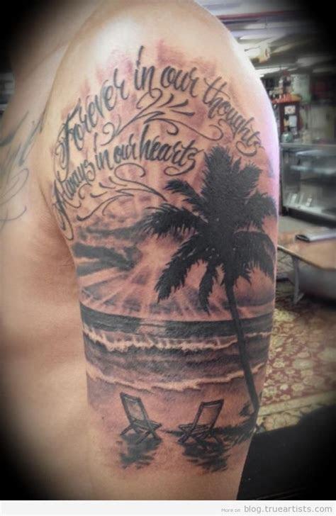 beach tattoos beach tattoo sleeve  eye catching