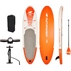 Vilano PathFinder Inflatable SUP Stand Up Paddle Board Kit, Orange