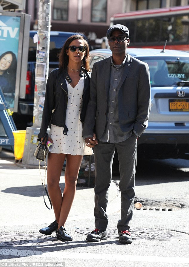 Fab: Actress Megalyn showed off some fabulous legs in a short white dress, which she paired with dress shoes and a cropped leather jacket