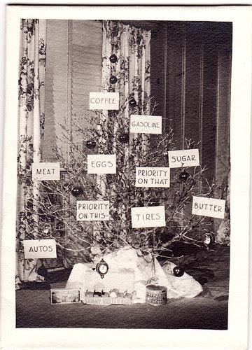 hand made ration christmas card