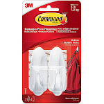 Double Sided Tape - 3M Command Hooks: Medium Designer Hooks [2 hooks per pack] White - Pack - Find Tape