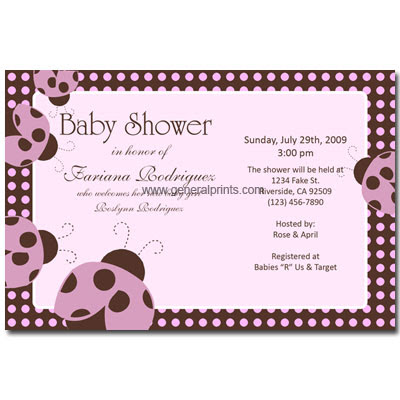 Free Birthday Party Invitations on Kids Birthday Party Invitations Ladybug Baby Shower Invitations