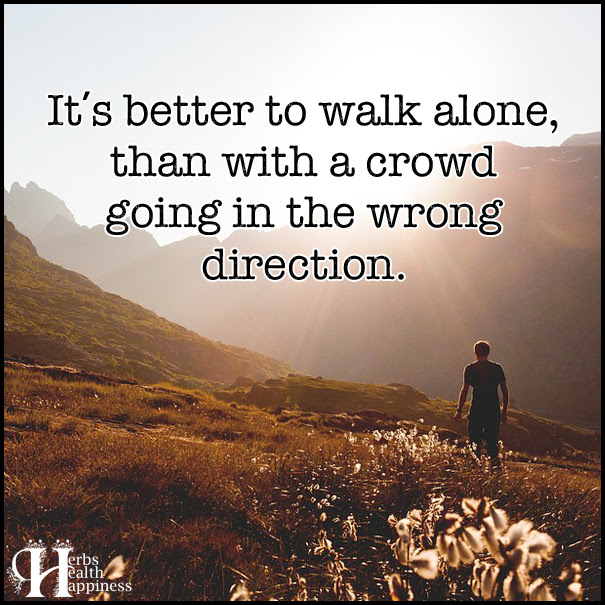 Its Better To Walk Alone ø Eminently Quotable Quotes Funny