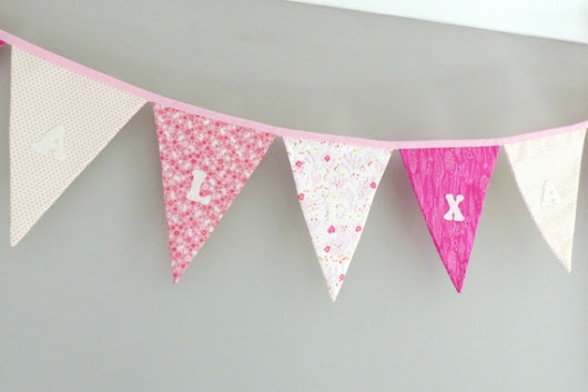 Personalised Bunting custom name garland kids room by Madebydolly