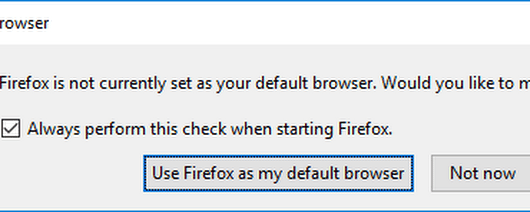 How to disable default browser check by Firefox browser