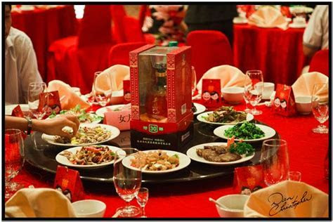 chinese food wedding theme   chinese wedding feast, table