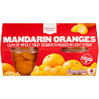 Mandarin Oranges In Light Syrup 4ct - Market Pantry
