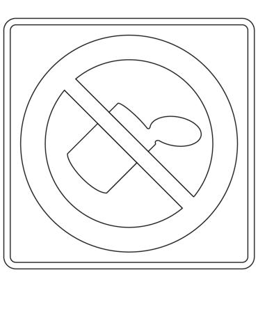 Dibujo De Prohibido Arrojar Basura Para Colorear Dibujos Para