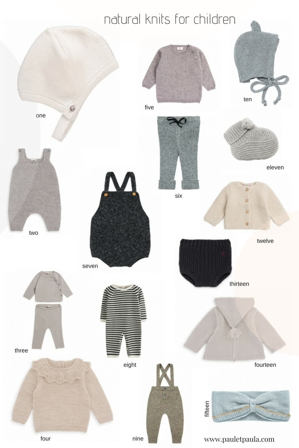 The best natural knits for children!