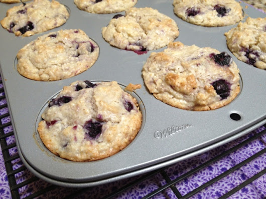 Blueberry muffins {Secret Recipe Club}