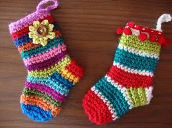 Multicolored Miniature Christmas Stockings