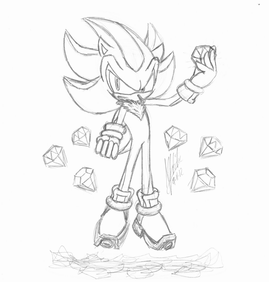 Super Sonic The Hedgehog Chaos Emeralds Coloring Pages ...